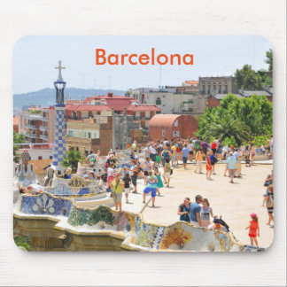Park Guell in Barcelona, Spain Mouse Mat