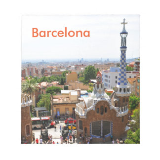 Park Guell in Barcelona, Spain Notepad
