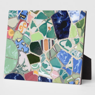 Park Guell mosaics Display Plaque