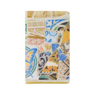 Park Guell mosaics Large Moleskine Notebook