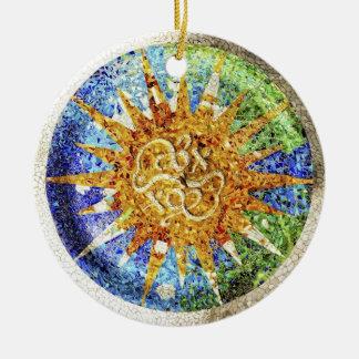 Park Guell mosaics Ornament