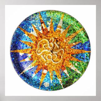 Park Guell mosaics Poster