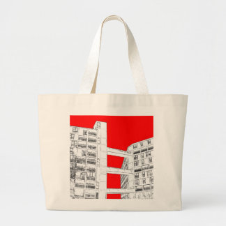 Park Hill , Sheffield (red) - Tote bag
