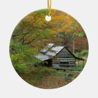 Park Homestead Cabin Ains Tennessee Christmas Ornament