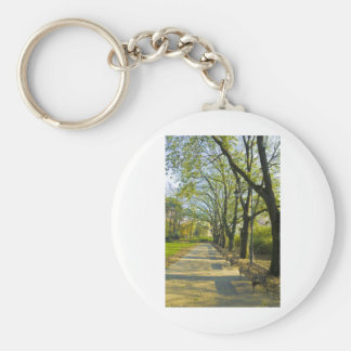 park in autumn key chains