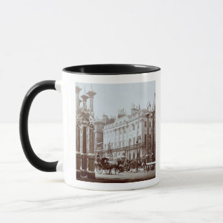 Park Lane being decorated for Queen Victoria's Dia Mug
