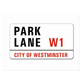 Park Lane, London Street Sign Postcard