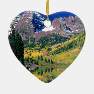 Park Maroon Bells White River Forest Ceramic Heart Decoration