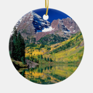 Park Maroon Bells White River Forest Colorado Christmas Ornament