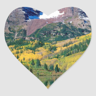 Park Maroon Bells White River Forest Colorado Heart Sticker
