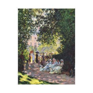 Park Monceau Monet Fine Impressionism Art Canvas Print