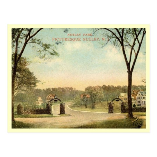 Park, Nutley, New Jersey Vintage Postcard