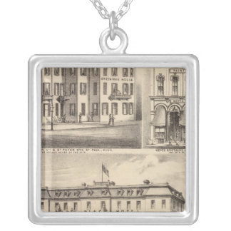 Park Place Hotel, Greenman House, Minnesota Silver Plated Necklace