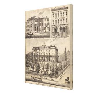 Park Place Hotel, Greenman House, Minnesota Stretched Canvas Prints