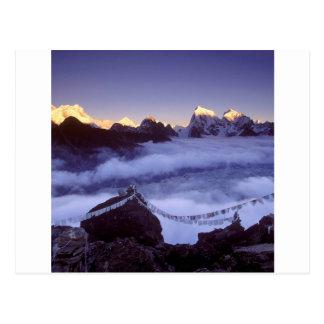 Park Prayer Flags On Everest Nepal Postcard