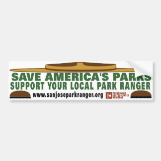 park ranger bumper_sticker_lg bumper sticker