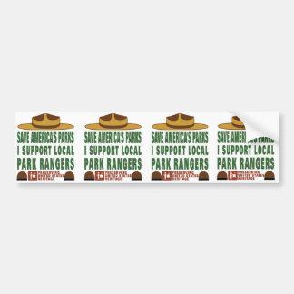 park ranger bumper_sticker_x4 car bumper sticker