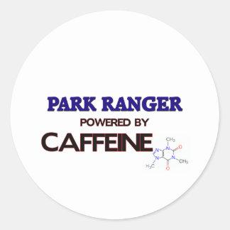 Park Ranger Powered by caffeine Classic Round Sticker
