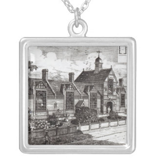 Park Road, Hampstead, from 'The Building News' Silver Plated Necklace