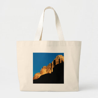 Park Sunset Light On Canyon Wall Grand Canyon Canvas Bags