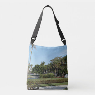 Park Surrounded By Palm Trees Crossbody Bag