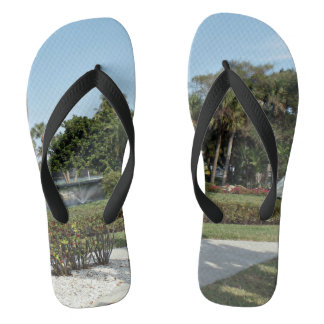 Park Surrounded By Palm Trees Flip Flops