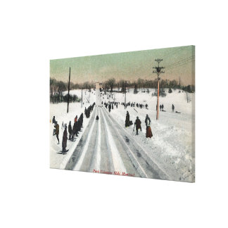 Park Toboggan Slide ViewMontreal, Canada Canvas Print