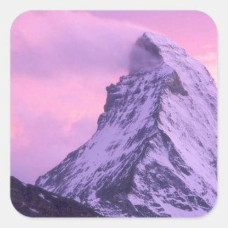 Park Wind Shear Matterhorn Switzerland Square Sticker