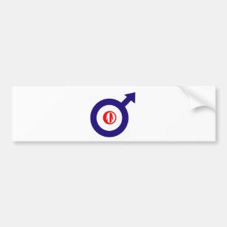 Parka Power + mod target Bumper Sticker