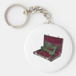 ParkBenchInBriefcase123111 Basic Round Button Key Ring