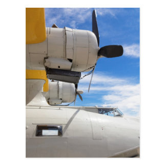 Parked PBY Props And A Blue Sky Postcard