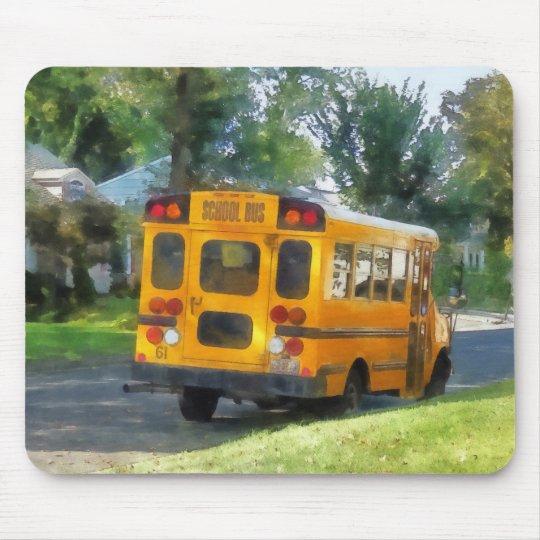 Parked School Bus Mouse Mat
