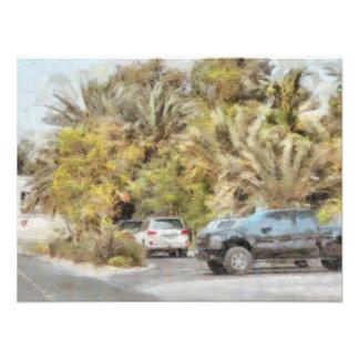 Parked vehicles photo print