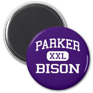 Parker - Bison - High School - Birmingham Alabama 6 Cm Round Magnet