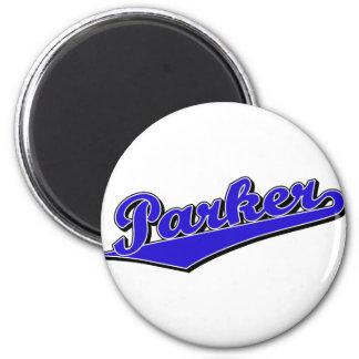 Parker in Blue 6 Cm Round Magnet