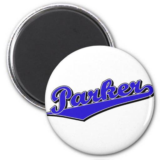 Parker in Blue Refrigerator Magnets