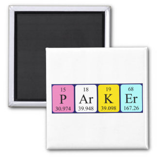 Parker periodic table name magnet