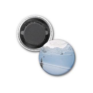 Parker Ridge Banff Park Icefields Alberta Canada 3 Cm Round Magnet