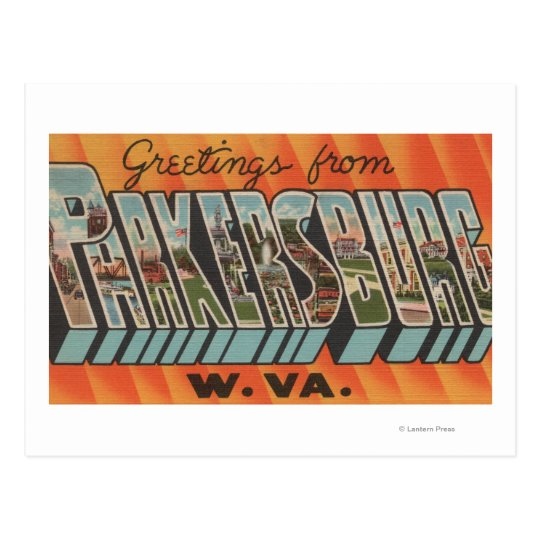 Parkersburg, West Virginia - Large Letter Scenes Postcard