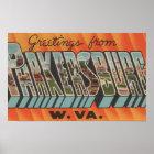 Parkersburg, West Virginia - Large Letter Scenes Poster