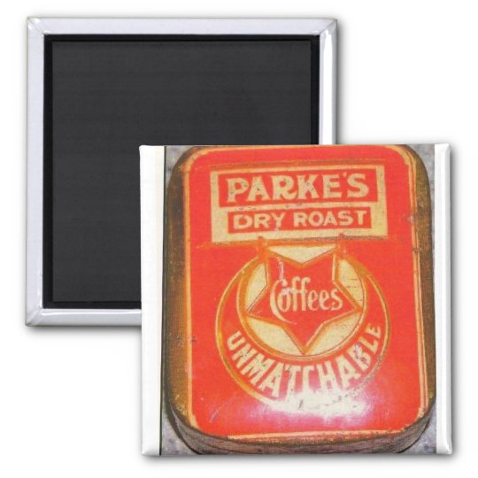 Parke's 1900 Coffee Tin Square Magnet