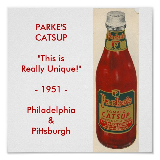Parke's Catsup Poster
