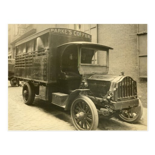 Parke's Coffee Truck - 1920 Post Card