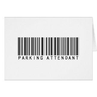 Parking Attendant Bar Code Card