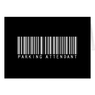 Parking Attendant Bar Code Greeting Card