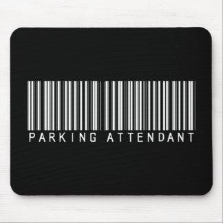 Parking Attendant Bar Code Mouse Mat