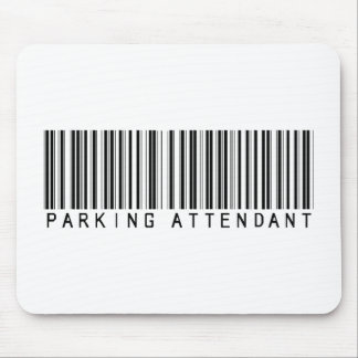 Parking Attendant Bar Code Mouse Pad