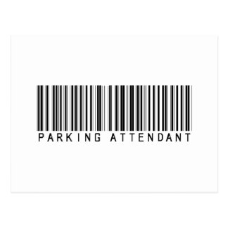 Parking Attendant Bar Code Post Cards