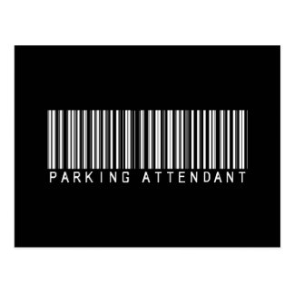 Parking Attendant Bar Code Postcard