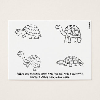 Parking Between the Lines - Coloring Book Note Business Card